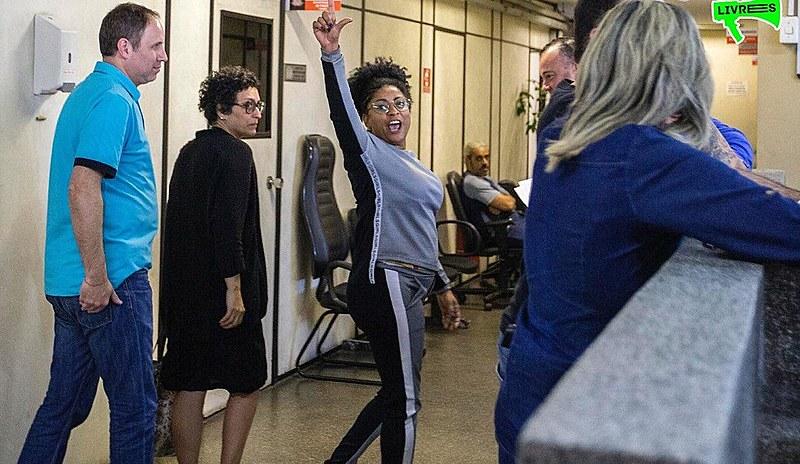 A cantadora e apresentadora Preta Ferreira é uma das militantes que estão presas desde o dia 24 de junho