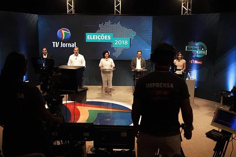 Participaram do debate Paulo Camara (PSB), Armando Monteiro (PTB), Maurício Rands (PROS) e Dani Portela (PSOL).