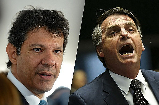 Fernando Haddad (PT) igualou Jair Bolsonaro (PSL) em intenções de voto