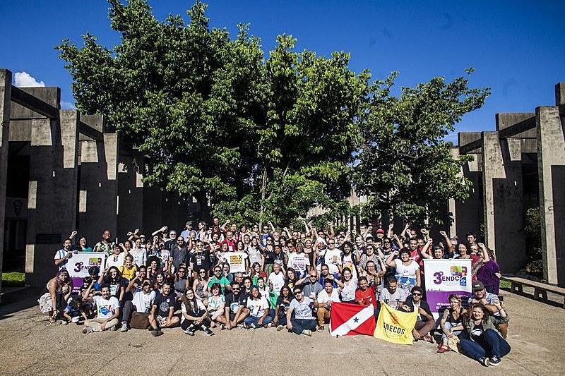 Alguns dos ativistas e militantes presentes no 3º Encontro Nacional pelo Direito à Comunicação