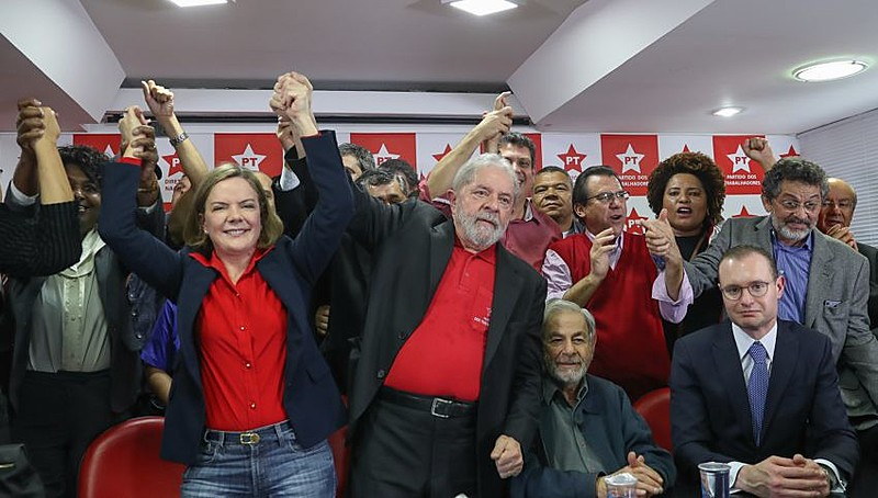Lula fez pronunciamento na manhã desta quinta (13), na sede do diretório do PT, em São Paulo
