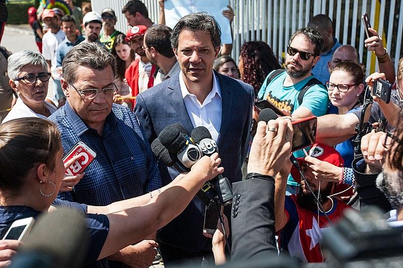 Fernando Haddad (foto) foi confirmado como candidato do Partido dos Trabalhadores há 13 dias e está em segundo lugar