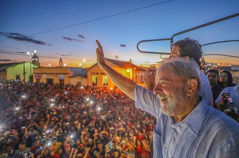 Lula em visita à cidade de Cedro (CE)