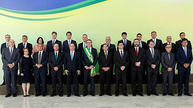 A foto da posse ministerial do governo Bolsonaro