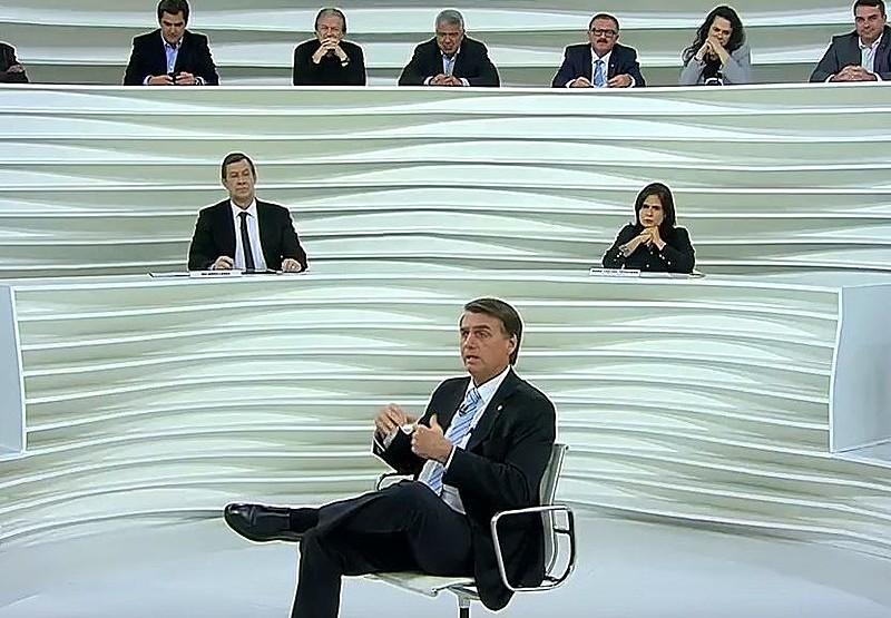 Jair Bolsonaro (PSL) participou do programa Roda Viva, da TV Cultura, nesta segunda-feira (30)