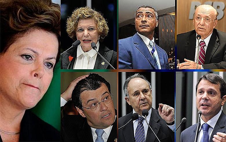 Lúcia (GO), Romário (RJ) e Valadares (AP), Braga, Cristovam e Reguffe (DF): discursos dúbios e imprevisibilidade