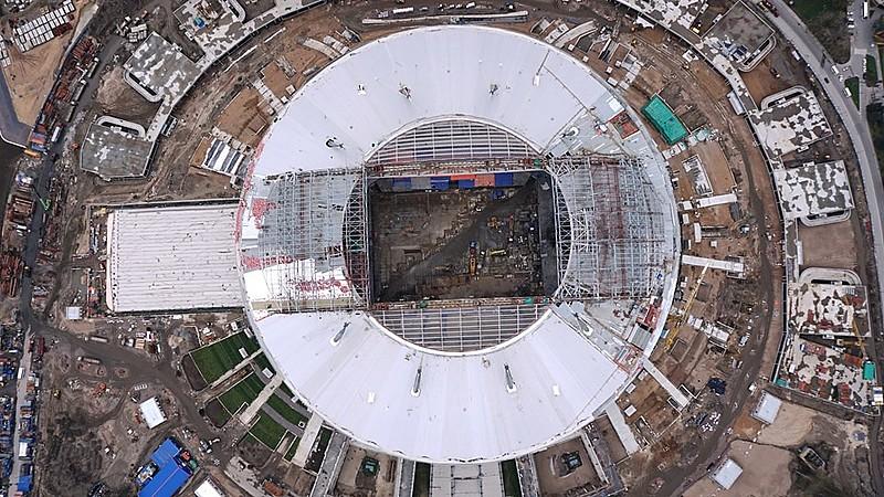 Arena São Petersburgo será palco de uma das semifinais do Mundial