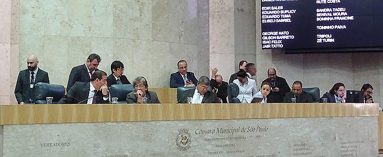 Sessão que aprovou o orçamento para 2019