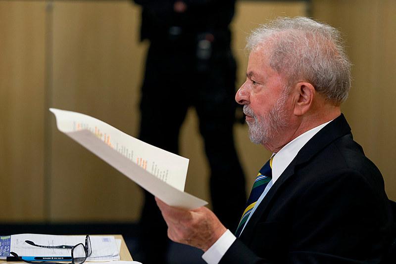 Ex-presidente Lula durante entrevista a agência Pública