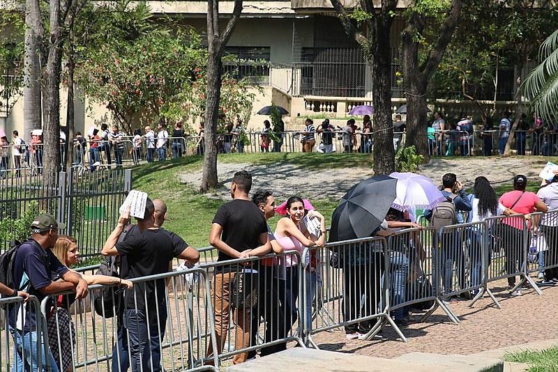 Feirão de empregos realizado no dia 17 de agosto, no centro da capital paulista