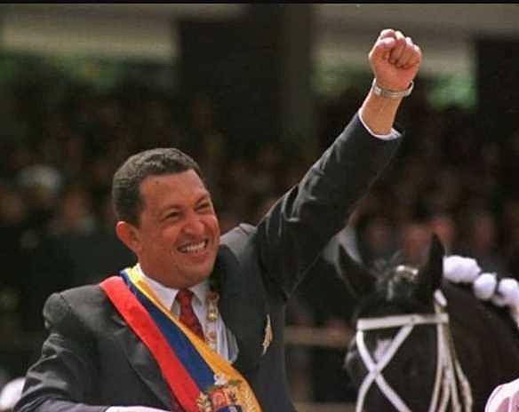 Hugo Chávez tomou posse como presidente da Venezuela em 2 de fevereiro de 1999