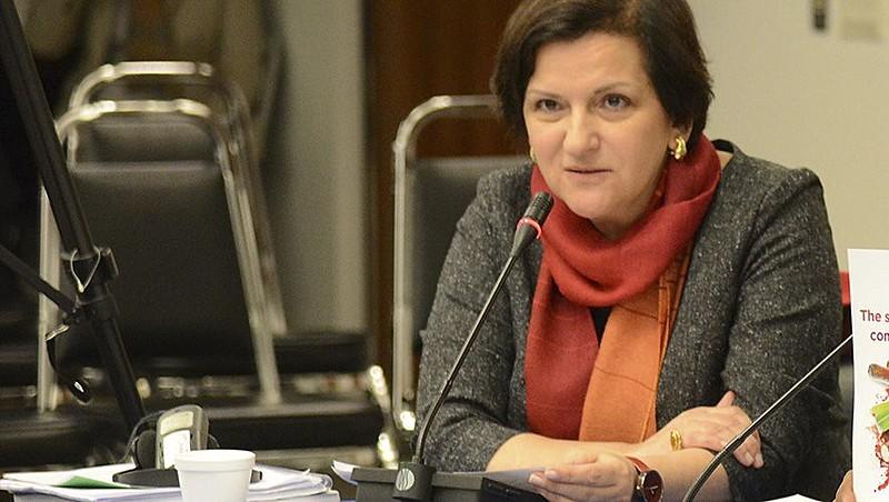 A juíza, em 2015, durante reunião da Comisión Interamericana de Derechos Humanos