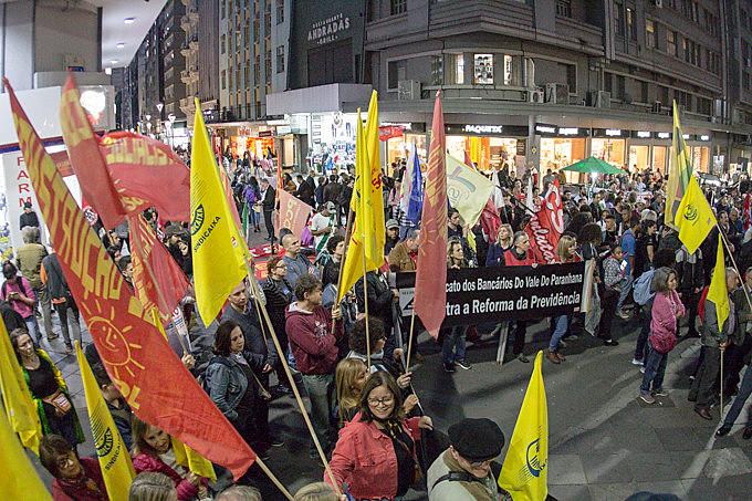 Manifestação havia sido convocada no mesmo dia do início da votação da reforma da Previdência no Senado, que foi adiada