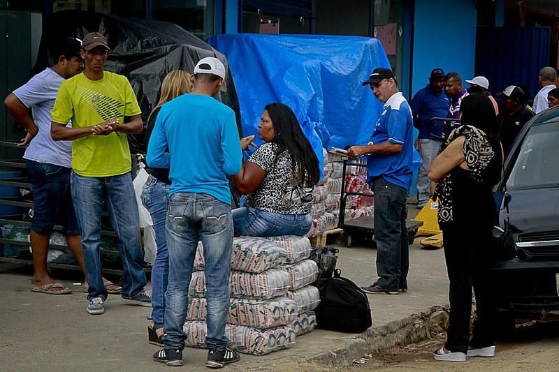 Venezuelanos em centros de acolhida no estado da Roraima
