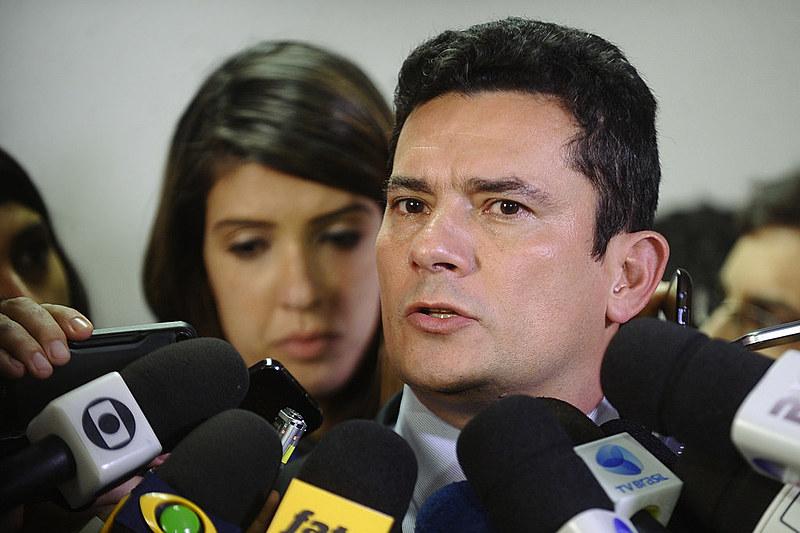 Juiz Sérgio Moro em coletiva de imprensa