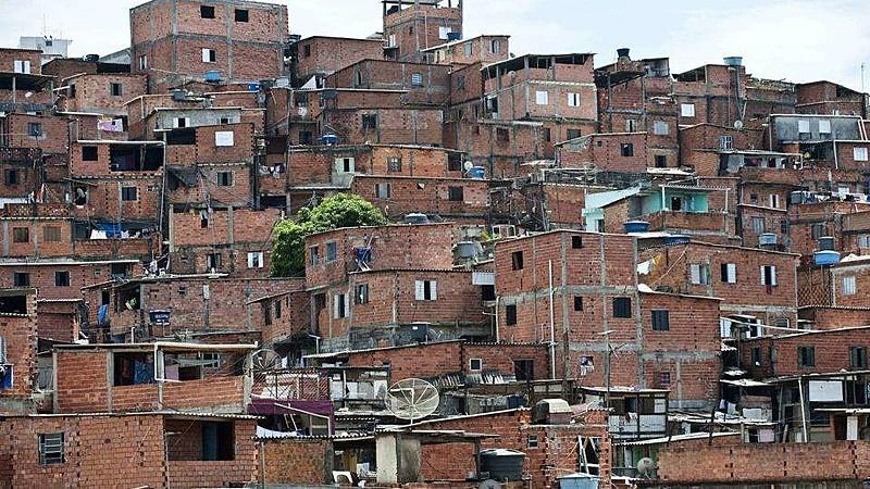 Vista de Paraisópolis, em São Paulo
