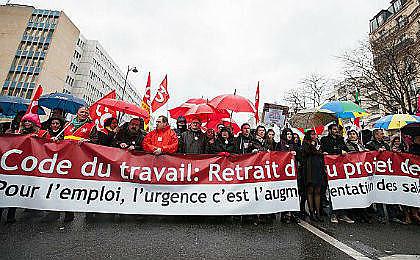 Protesto em Paris