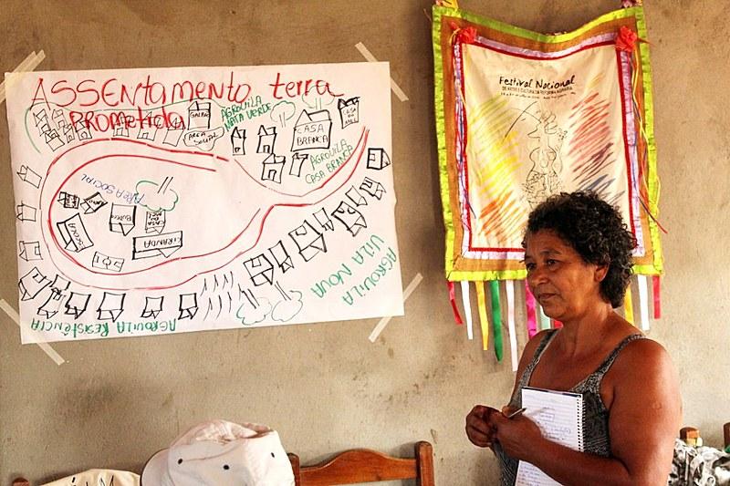 Maria Gomes dos Santos, 53, é da coordenação regional do MST no Vale do Jequitinhonha (MG)