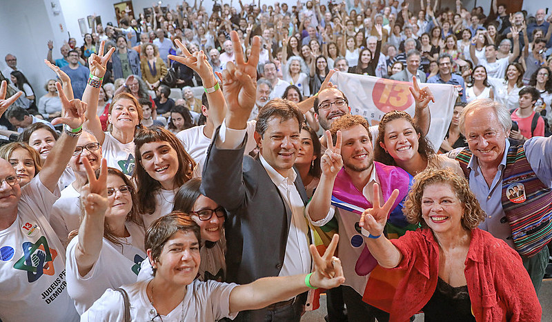 Haddad participa de ato do coletivo Judeus pela Democracia, em São Paulo