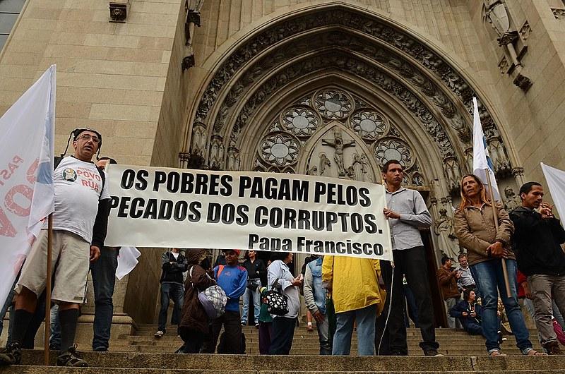 Registro de mobilização do ano passado, na Praça da Sé, em São Paulo