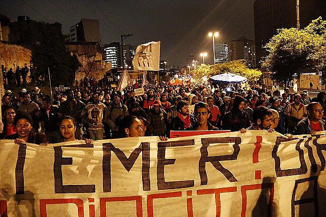 """Actos por el """"Fuera, Temer""""en São Paulo marcaron todo el 2016"""