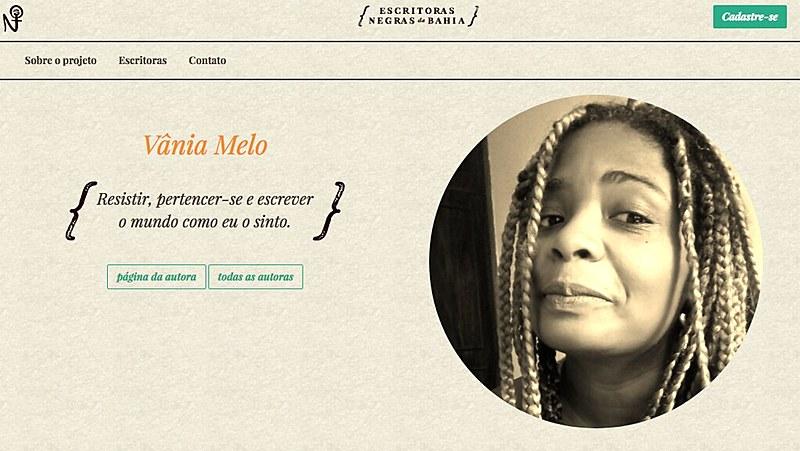 """Home do portal """"Escritoras Negras"""", a ser lançado na noite desta sexta"""