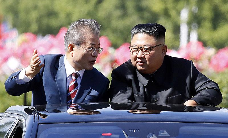 Presidente sul-coreano, Moon Jae-in, em Pyongyang, para sua terceira reunião de cúpula com o líder norte-coreano, Kim Jong Un