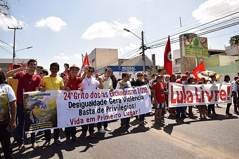 Em 2018, o Grito pautou o fim de privilégios e a liberdade de Lula