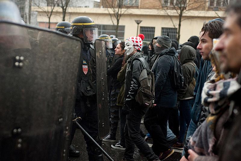 Manifestação em Paris contra a reforma trabalhista