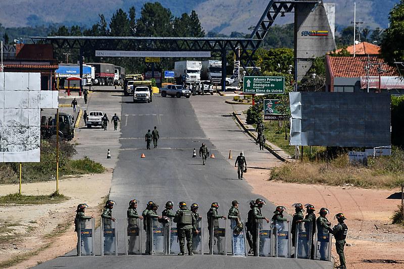 Fronteira entre Venezuela e Brasil está fechada desde o dia 21 de fevereiro