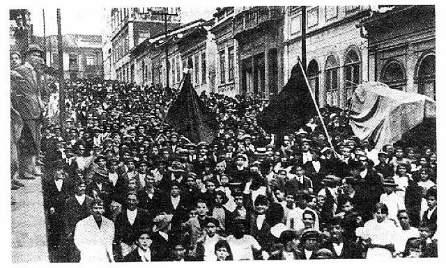 Registro da greve geral de 1917