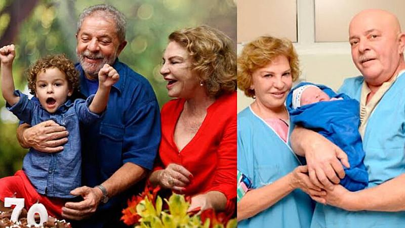 Lula com o neto, Arthur, que nasceu enquanto o ex-presidente se tratava de um câncer