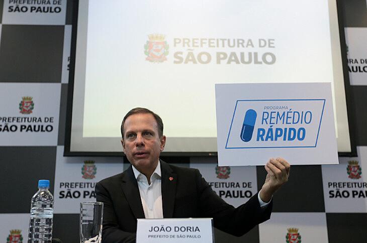 Programa Remédio Rápido, da gestão de João Doria (PSDB) está sendo pressionado por parlamentares