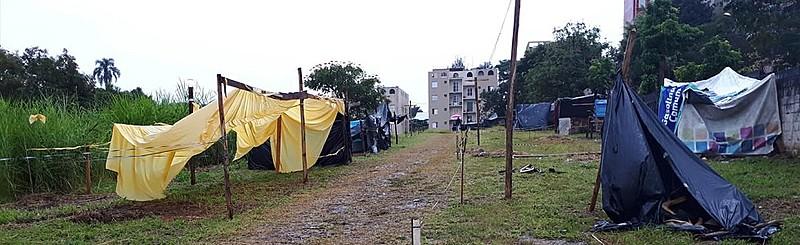 Novo terreno da ocupação, formada por  algumas famílias vindas da ocupação Aristocrata do Grajaú e outras que moravam nas ruas da região
