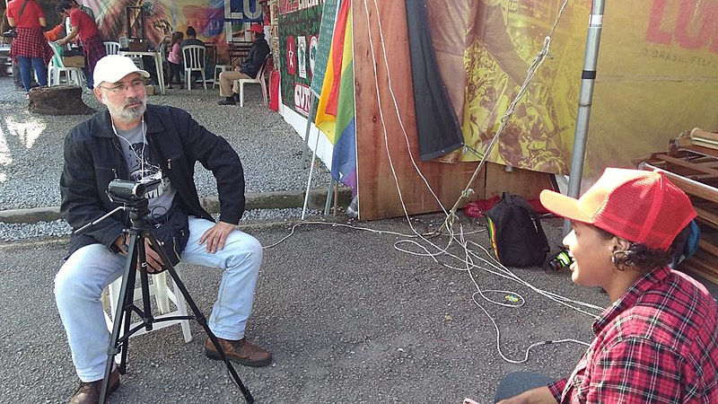 Pronzato entrevistou integrantes da Vigília Lula Livre