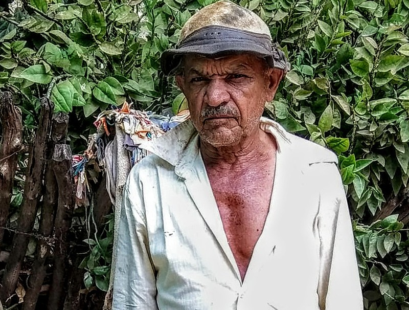 Francisco Cilirio Paes, morador do Assentamento 10 de abril, herdeiro da luta pelo Caldeirão