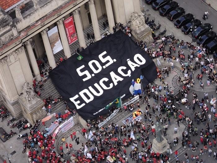 Manifestação de professores do Rio de Janeiro
