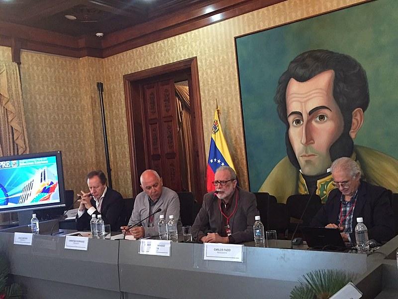 Da esquerda para a direita, os jornalistas Jorge Gestoso, Christian Rodriguez, Roberto Hernández Montoya e Carlos Fazio