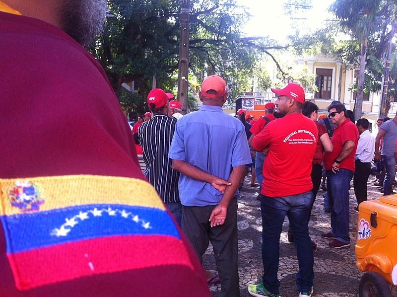 Ato em solidariedade a Venezuela aconteceu em agosto, no Recife (PE)
