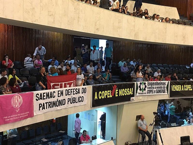 A manifestação será a partir das 13h30, no plenário da Assembleia Legislativa do Paraná (ALEP)