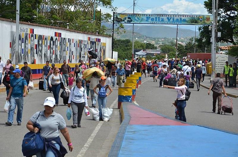 O final de semana foi de normalidade na ponte internacioal Simón Bolívar