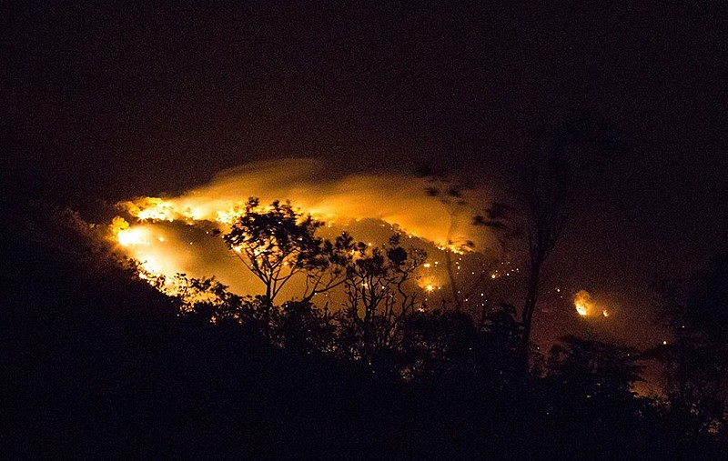 Fire Ravages Brazil's Chapada dos Veadeiros National Park