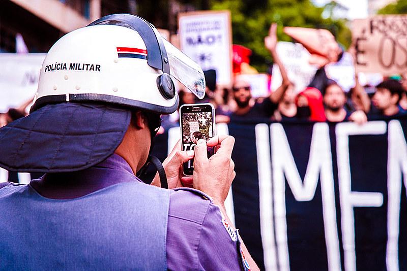 PMs filmam protesto do Movimento Passe Livre em 2017