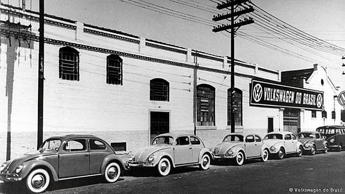 Fábrica da Volkswagen em São Paulo, em 1953.