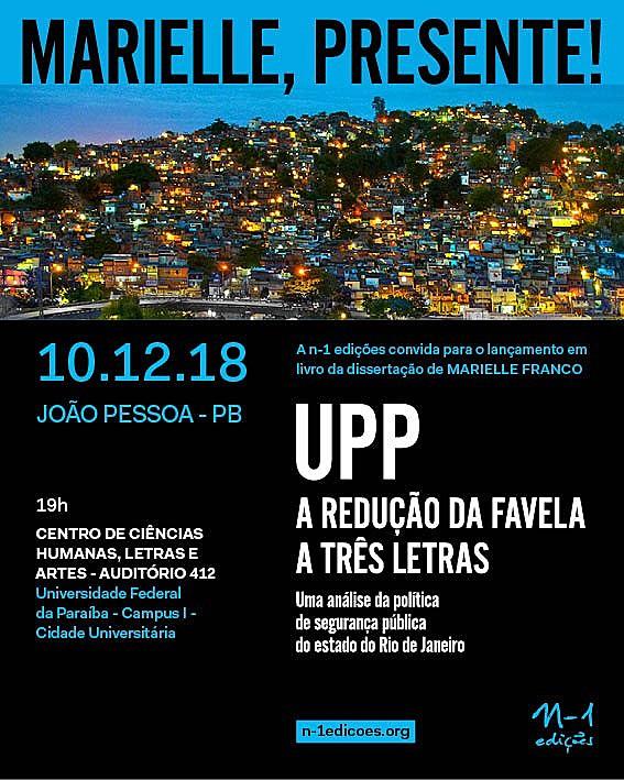 Lançamento do Livro de Marielle Franco na UFPB
