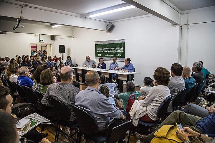 """Seminário público """"O Golpe no SUS"""" foi organizado pela revista Le Monde Diplomatique Brasil e pela Plataforma Política Social"""