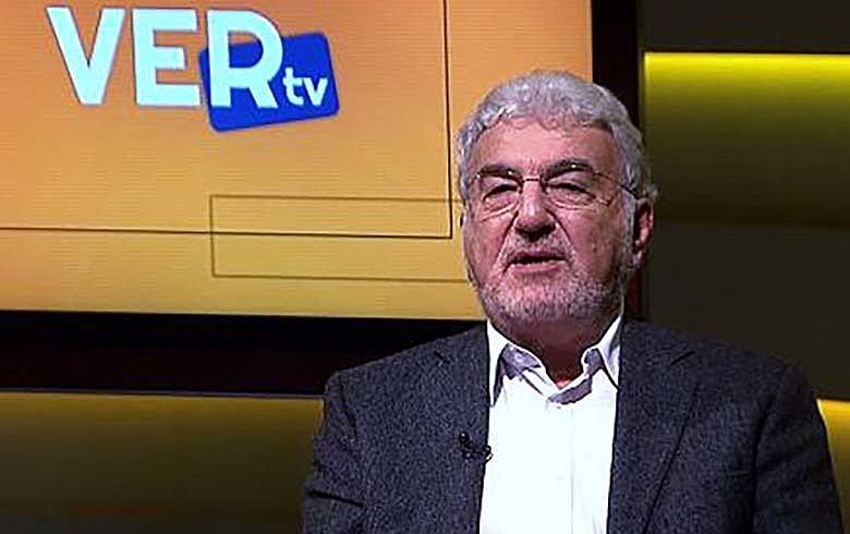 Laurindo Lalo Leal Filho durante apresentação do programa Ver TV