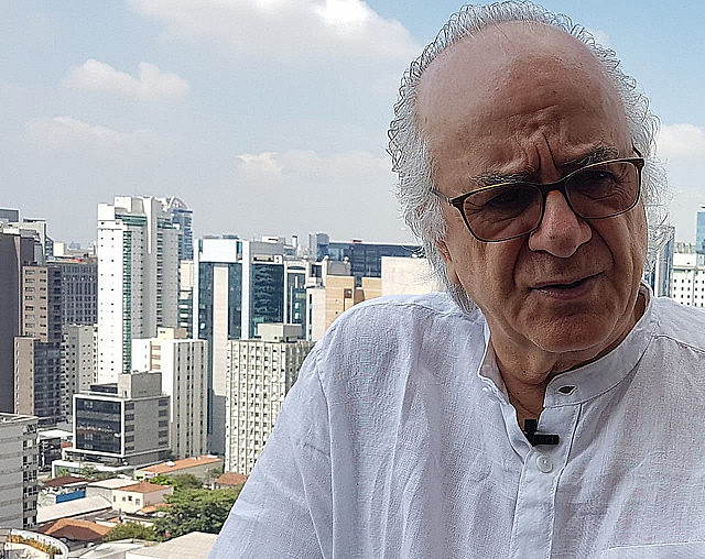 Boaventura recebeu a reportagem doBrasil de Fato, na cobertura do hotel em que hospedou em São Paulo no fim de dezembro de 2018