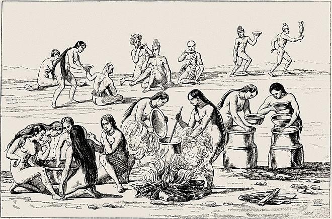 Preparação do cauim, 1837