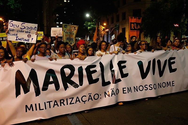 Passeata em homenagem à vereadora Marielle Franco, e seu motorista Anderson Pedro Gomes, no centro do Rio